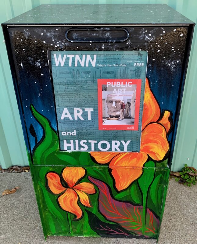 Arts district history newsstand